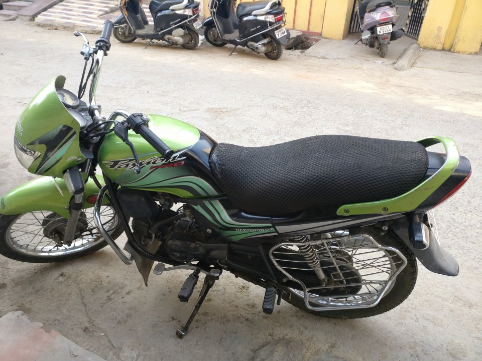 Hero Honda passion pro single handed used vehicle with good condition.