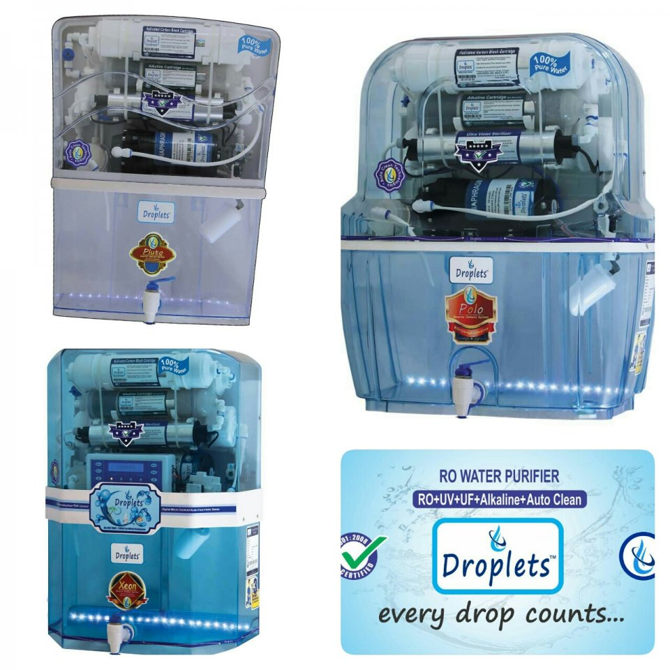 Droplets water purifier