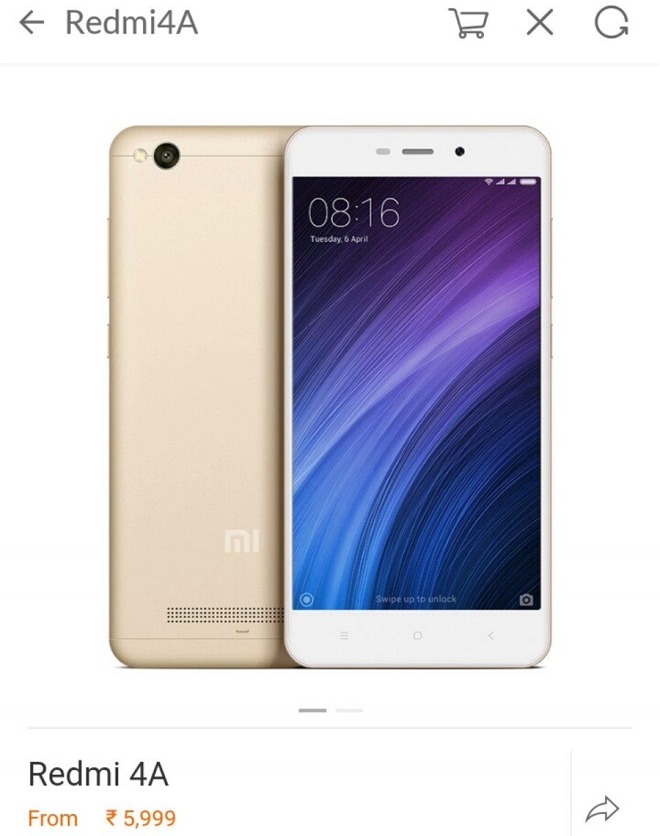 Redmi 4a sealed pack